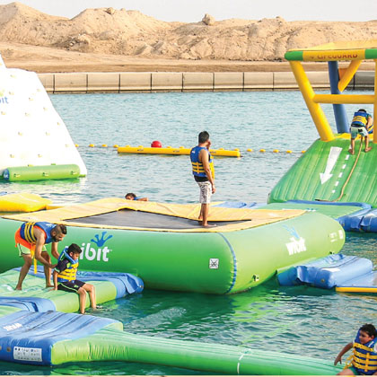 Aqua Fun Floating Water Park - attractions